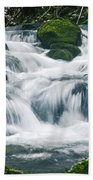 Beautiful River In Forest Bath Towel