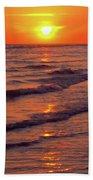 Beautiful Sanibel Sunset Bath Towel