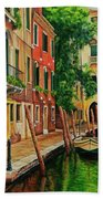 Beautiful Side Canal In Venice Bath Towel