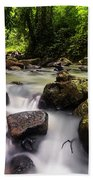 Beautiful Stream In Western Ghats Region Of Karnataka India Bath Towel