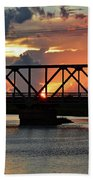 Beautiful Sunset Bridge  Bath Towel