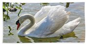 Beautiful Swan Bath Towel