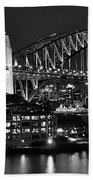 Beautiful Sydney Harbour In Black And White Bath Towel