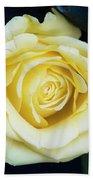 Beautiful Yellow Rose Bath Towel