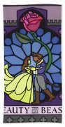 Beauty And The Beast Bath Towel