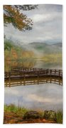Beauty Of The Lake Oil Painting  Bath Towel