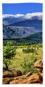 Beaver Meadows In Rocky Mountain National Park Hand Towel