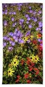 Bed Of Flowers Bath Towel