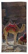 Bedouin Tribesmen, Petra Jordan Hand Towel by Perry Rodriguez