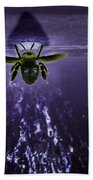 Bee Drilling Wood Bath Towel