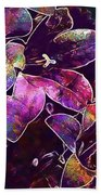 Bee Insect Close Macro Flower  Bath Towel