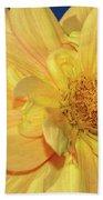 Bee On Pretty Dahlia By Kaye Menner Bath Towel