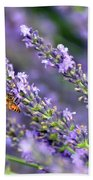 Bee On The Lavender Bath Towel