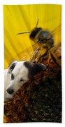 Bee With Dog Bath Towel