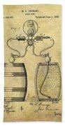 Beer Pump Patent Bath Towel