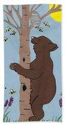 Bees And The Bear Bath Towel