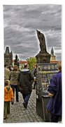 Before The Rain On The Charles Bridge Bath Towel