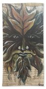 Beguiling Green Man Hand Towel