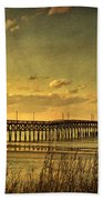 Behind Cherry Grove Pier  Bath Towel