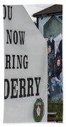 Belfast Mural - Free Derry - Ireland Bath Towel
