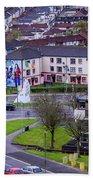 Belfast Mural - Derry Neighborhood - Ireland Bath Towel