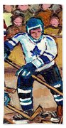 Bell Center Hockey Art Goalie Carey Price Makes A Save Original 6 Teams Habs Vs Leafs Carole Spandau Bath Towel