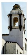Bell Tower In Santa Cruz Bath Towel