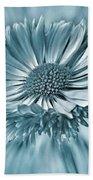 Bellis In Cyan  #flower #flowers Bath Towel