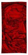 Ben In Wood Red Hand Towel