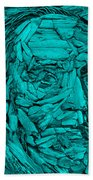 Ben In Wood Turquoise Bath Towel