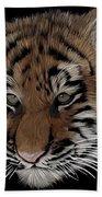 Bengal Tiger Cub Bath Towel