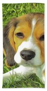 Benny Beagle Bath Towel by Harry Warrick