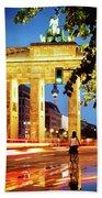 Berlin - Brandenburg Gate At Night Bath Towel