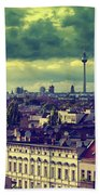 Berlin Roofscape Bath Towel