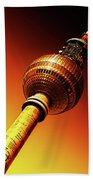 Berlin Television Tower - Berlin I Love You Bath Towel