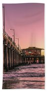 Beside The Pier By Mike-hope Hand Towel