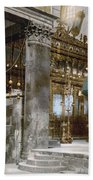 Bethlehem - Inside Nativity Church 1890 Hand Towel