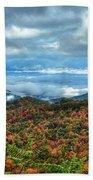 Between The Clouds Blue Ridge Parkway North Carolina Art Bath Towel