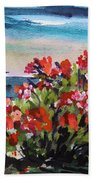 Beyond Sea Roses Bath Towel