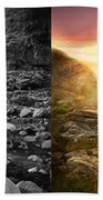 Bible - Psalm 23 - Yea, Though I Walk Through The Valley 1920 - Side By Side Bath Towel