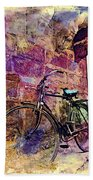 Bicycle Abandoned In India Rajasthan Blue City 1a Bath Towel
