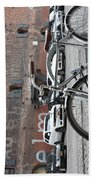 Bicycle And Building Bath Towel
