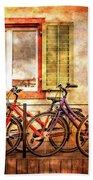 Bicycle Line-up Bath Towel