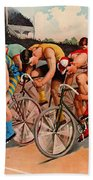 Bicycle Race 1895 Bath Towel