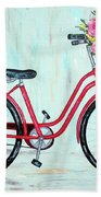 Bicycle Spring Break Hand Towel