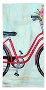 Bicycle Spring Break Bath Towel