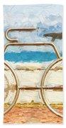 Seaside Bicycle Stand Bath Towel