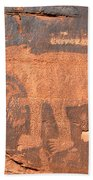 Big Bear Petroglyph Bath Towel