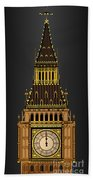 Big Ben Striking Midnight Bath Towel
