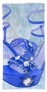 Big Blue Bling  Bath Towel